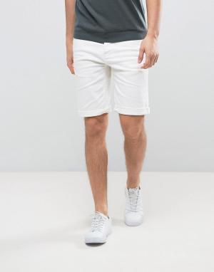Burton Menswear Джинсовые шорты скинни. Цвет: белый