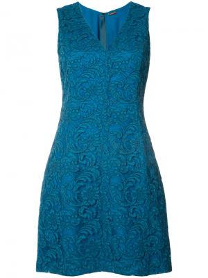 Кружевное платье мини Adam Lippes. Цвет: синий