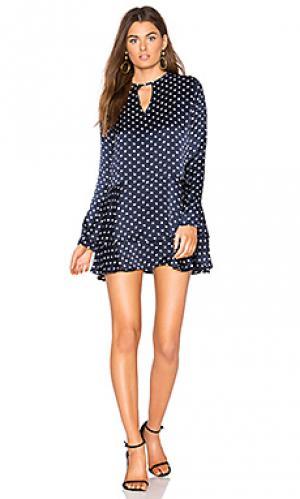 Платье с юбкой-солнце bobbie SIR the label. Цвет: синий