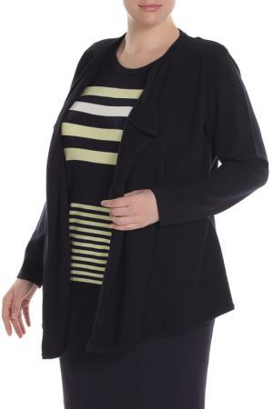 Пуловер Eugen Klein. Цвет: темно-синий, лимонный, полоса