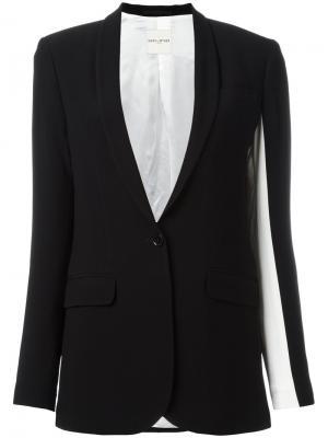 Пиджак с лацканами-шалькой Each X Other. Цвет: чёрный