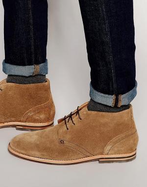 Hudson London Замшевые ботинки чукка Houghton. Цвет: рыжий