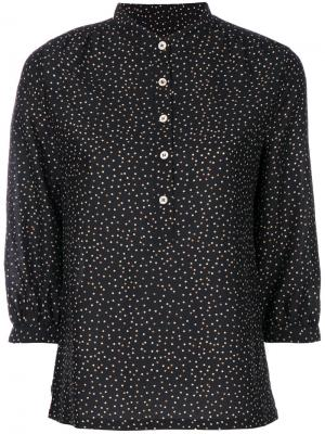 Блузка в горох на пуговицах Vanessa Seward. Цвет: чёрный