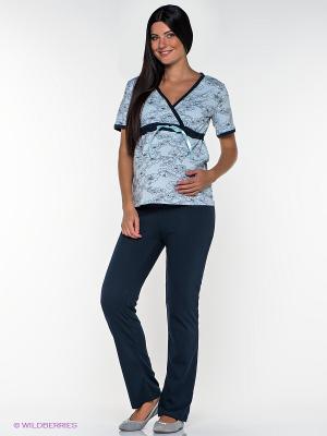 Пижама Nuova Vita. Цвет: темно-синий, голубой