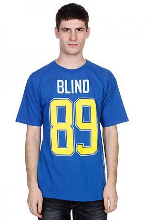 Футболка  Number 89 Royal Blind. Цвет: синий