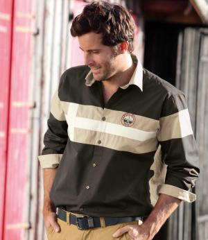 Рубашка «Квебек» AFM. Цвет: серыи