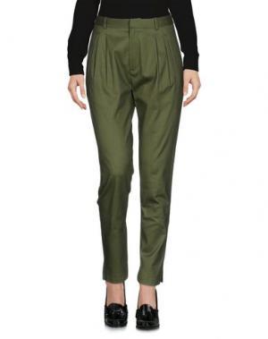 Повседневные брюки BAND OF OUTSIDERS. Цвет: зеленый-милитари