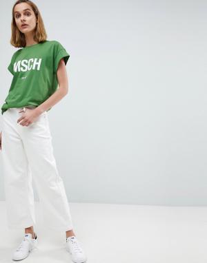 Moss Copenhagen Комбинируемые джинсы с широкими штанинами. Цвет: белый