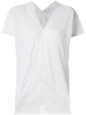 Блузка в полоску Aspesi. Цвет: белый