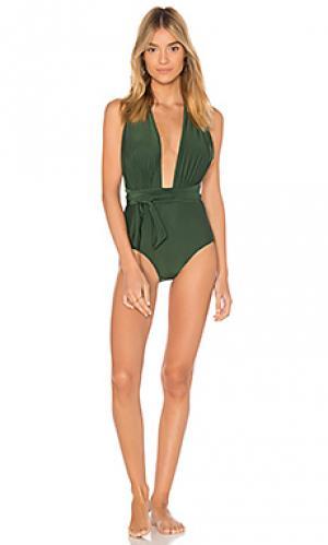 Слитный купальник chic Lenny Niemeyer. Цвет: зеленый