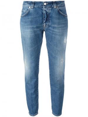 Укороченные джинсы  Karen +People. Цвет: синий