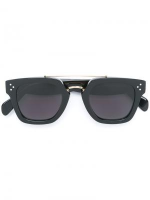 Солнцезащитные очки в квадратной оправе Céline Eyewear. Цвет: чёрный