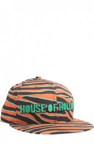 Кепка с принтом House Of Holland. Цвет: оранжевый
