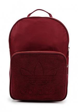 Рюкзак adidas Originals. Цвет: бордовый