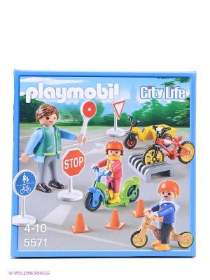 Конструктор Дети с воспитателем по ПДД Playmobil. Цвет: серо-голубой
