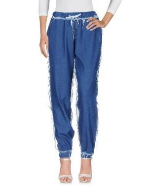 Джинсовые брюки ANDREA CREWS. Цвет: синий