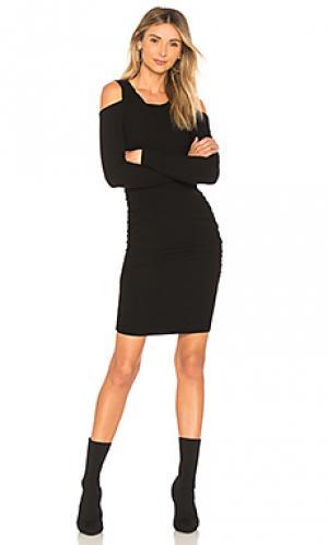 Мини платье SUNDRY. Цвет: черный