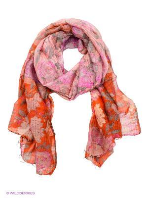 Платок Michel Katana. Цвет: розовый, серый, рыжий