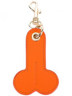 Брелок для ключей phallic JW Anderson. Цвет: жёлтый и оранжевый