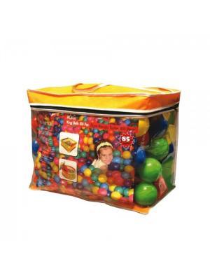 Шары для манежа, 100 штук, диаметр 65 мм, в сумке KingKids. Цвет: зеленый, желтый, красный
