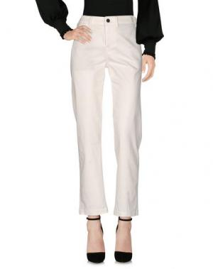 Повседневные брюки GENETIC DENIM. Цвет: белый