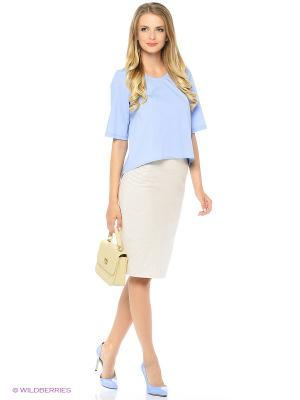 Блузка SEVONA. Цвет: голубой