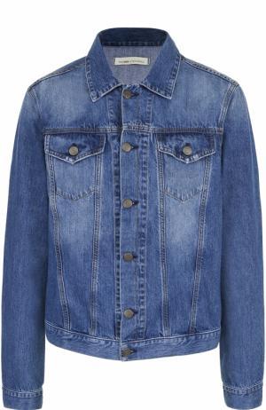 Джинсовая куртка на пуговицах 2 Men Jeans. Цвет: синий