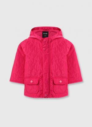 Утеплённая куртка для девочек OSTIN. Цвет: фуксия
