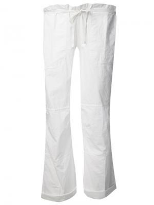 Укороченные брюки Dosa. Цвет: белый