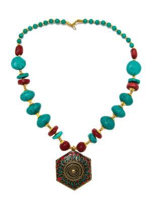 Тибетское колье MZ0155 Indira. Цвет: прозрачный