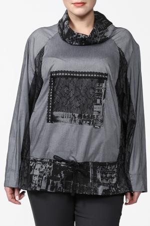 Блуза Terra. Цвет: черный