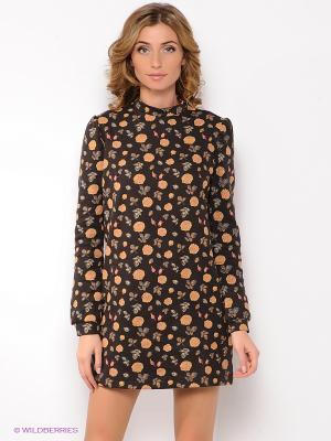 Платье Анна Чапман. Цвет: темно-коричневый