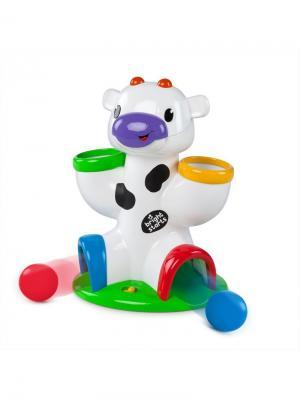 Развивающая игрушка Веселая корова BRIGHT STARTS. Цвет: бежевый