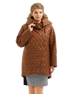 Пальто LikModa. Цвет: коричневый