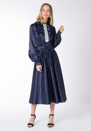 Платье Yaroslavna. Цвет: синий