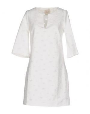 Короткое платье LOU LONDON. Цвет: слоновая кость