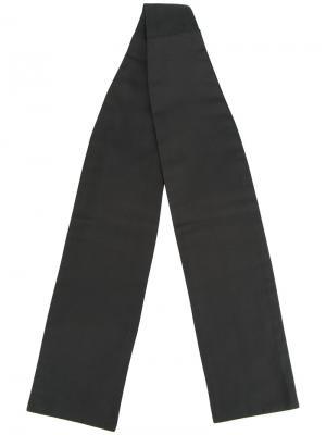 Галстук Solid Tafetta Ascot Alexander McQueen. Цвет: чёрный