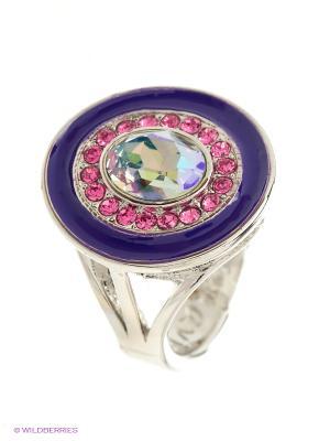Кольцо Jenavi. Цвет: серебристый, розовый, темно-фиолетовый