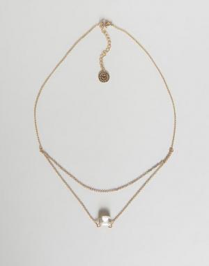 Johnny Loves Rosie Двухрядное ожерелье с цепочками. Цвет: золотой
