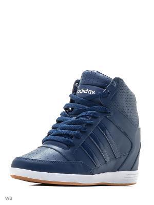 Сникеры  SUPER WEDGE W Adidas. Цвет: синий