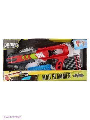 Игрушечное оружие Бластер Mad Slammer BOOMco. Цвет: черный, красный