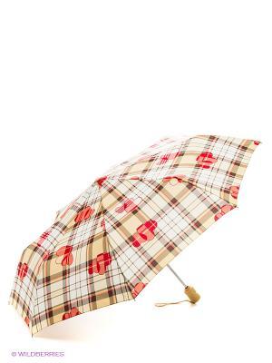 Зонт женский автомат Fulton. Цвет: бежевый