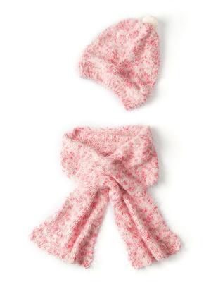 Шапка, шарф I love to dream. Цвет: розовый