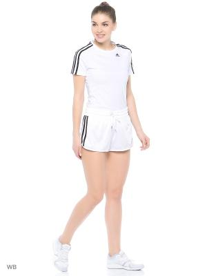Шорты 3-Stripes Shorts Adidas. Цвет: белый