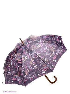 Зонт Isotoner. Цвет: синий, розовый