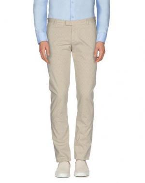 Повседневные брюки DAVID NAMAN. Цвет: бежевый