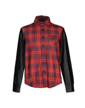 Pубашка TRE CINQUE SETTE. Цвет: красный