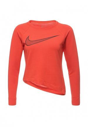 Лонгслив спортивный Nike. Цвет: красный