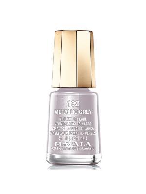 Лак для ногтей тон 192 Metallic grey Mavala. Цвет: светло-серый
