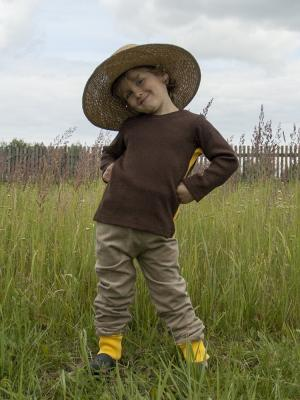 Брюки Супер-штоны на подкладке Sardina Baby. Цвет: бежевый, желтый